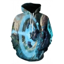 League of Legends Trendy 3D Pattern Sport Casual Long Sleeve Blue Hoodie