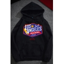 New Trendy Cool Letter LOS ANGELES Printed Long Sleeve Pullover Hoodie for Students