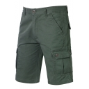 Men's Comfortable Cotton Simple Plain Outdoor Fashion Military Cargo Shorts