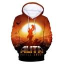 Alita Battle Angel Popular Long Sleeve Relaxed Fit Hoodie in Orange