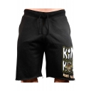 Fashion Letter KING Mens Summer Fitness Training Cotton Sweat Shorts Running Shorts
