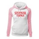 Stranger Things Series Colorblock Fitted Long Sleeve Pullover Hoodie