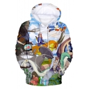 Totoro 3D Comic Character Pattern Pullover Loose Casual Hoodie