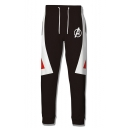 Cosplay Costume Drawstring Waist Black Sport Sweatpants