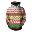 New Fashion Christmas 3D Printed Pullover Sport Relaxed Hoodie