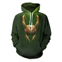 New Fashion Cosplay Costume Casual Sport Long Sleeve Hoodie in Green
