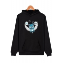 Cute Comic Character Print Long Sleeve Unisex Comic Cosplay Casual Hoodie