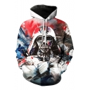 Star Wars Darth Vader 3D Print Casual Loose Pullover White Hoodie