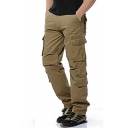 Men's Classic Fashion Simple Plain Four-Pocket Casual Military Cargo Pants