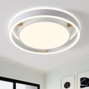 Acrylic Ceiling Light with Circular Shape Nordic Style White LED Flushmount for Living Room