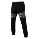 Mens Fashion Tribal Print Drawstring Waist Skinny-Fit Sport Sweatpants