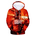 Hellboy Movie Cool 3D Figure Pattern Unisex Pullover Casual Drawstring Hoodie