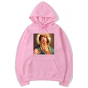 Pulp Fiction Popular Film Figure Pattern Unisex Relaxed Fit Hoodie