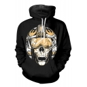 Star Wars Darth Vader Cool Skull Printed Sport Casual Long Sleeve Black Hoodie