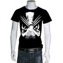 Wolverine Guys Round Neck Short Sleeve Basic Summer T-Shirt