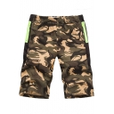Summer New Stylish Fashion Camo Printed Elastic Waist Athletic Shorts for Men