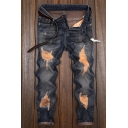 Guys New Fashion Casual Distressed Ripped Slim Fit Jeans