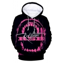 Girl Group Fashion 3D Mouth Letter Printed Basic Sport Casual Long Sleeve Hoodie