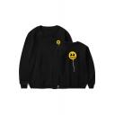 American Music Producer and DJ Funny Cartoon Lollipop Long Sleeve Round Neck Pullover Sweatshirt