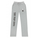 The Peep Show Printed Drawstring Waist Unisex Loose Casual Cotton Sweatpants