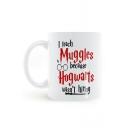 Harry Potter Hogwarts Printed White Porcelain Mug Cup