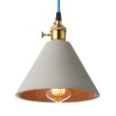 Vintage Cement Pendant Light Indoor in Grey