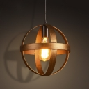 Vintage Style Globe Cage Single Light Pendant Light in Bronze Finish