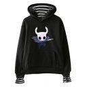 Hollow Knight Game Character Printed Stripe Printed Casual Loose Hoodie
