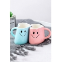 2pcs/set Expression Embracing Cups Couple Smiling Face Mugs Hug Ceramic Mug for Valentine Gift