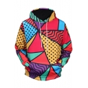 Fashion Colorful Painting 3D Printed Long Sleeve Casual Loose Hoodie