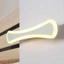 White Linear LED Wall Light Minimalist Modern Acrylic Sconce Lighting for Children Bedroom
