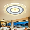 Acrylic Ultra Thin LED Flush Mount with Disc Nordic Style Living Room Bedroom Ceiling Light in White