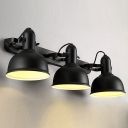 Vintage Bowl 3-Light Wall Sonce in Black Finish for Bathroom Bedside Kitchen