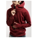 Teenage Fashion Glove Long Sleeve Solid Zip Up Hoodie with Pocket