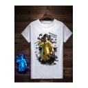 PUBG PlayerUnknown's Battlegrounds Cool Game Figure Printed Unique Short Sleeve Luminous T-Shirt