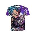 Dragon Ball Cool 3D Comic Character Printed Short Sleeve T-Shirt