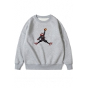 Funny Cool Figure Printed Round Neck Long Sleeve Casual Loose Sweatshirt