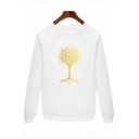 The Lord of The Rings Tree Pattern Unisex Loose Fit Pullover Sweatshirt