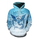 Game of Thrones Classic Line Winter Is Coming Print Light Blue Unisex Drawstring Hoodie