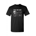 Funny Letter CHOOSE YOUR WEAPON Game Console Print Summer Basic Graphic Tee