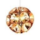 Post Modern Globe Pendant Acrylic 1-Light Decorative Hanging Lamp in Gold/Silver for Living Room