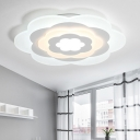 Blossom LED Flush Mount Contemporary White Acrylic Ceiling Fixture for Hallway Sitting Room