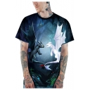 Cool 3D Pattern Loose Fit T-Shirt