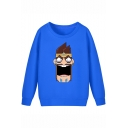 League of Legends Funny Game Figure Print Basic Long Sleeve Relaxed Fit Sweatshirt