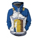 Cool Stylish 3D Printed Cosplay Costume Long Sleeve Pullover Blue Hoodie