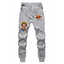 One Piece Luffy Comic Character Printed Comfort Cotton Casual Sport Unisex Sweatpants