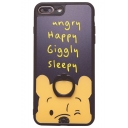 Winnie the Pooh Cute Cartoon Letter ANGRY HAPPY Silicone iPhone Case