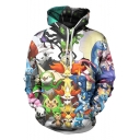 3D Cartoon Pattern Long Sleeve Unisex Relaxed Hoodie