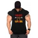 Dragon Ball Goku Funny Muscleguys Printed Mens Fitness Training Cotton T-Shirt