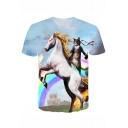 New Fashion Cool 3D Printed Short Sleeve Regular-Fit T-Shirt